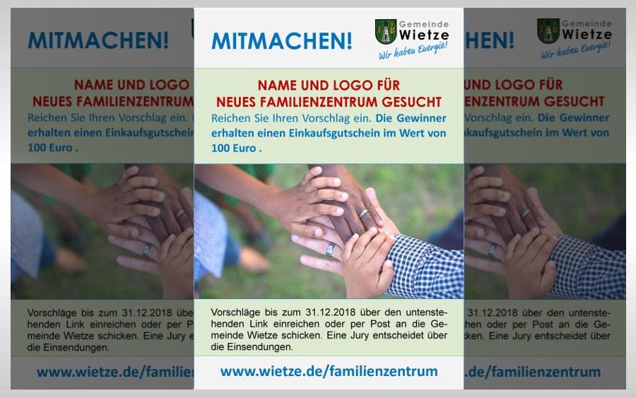 Wettbewerb gestartet:  Name und Logo für Familienzentrum  gesucht