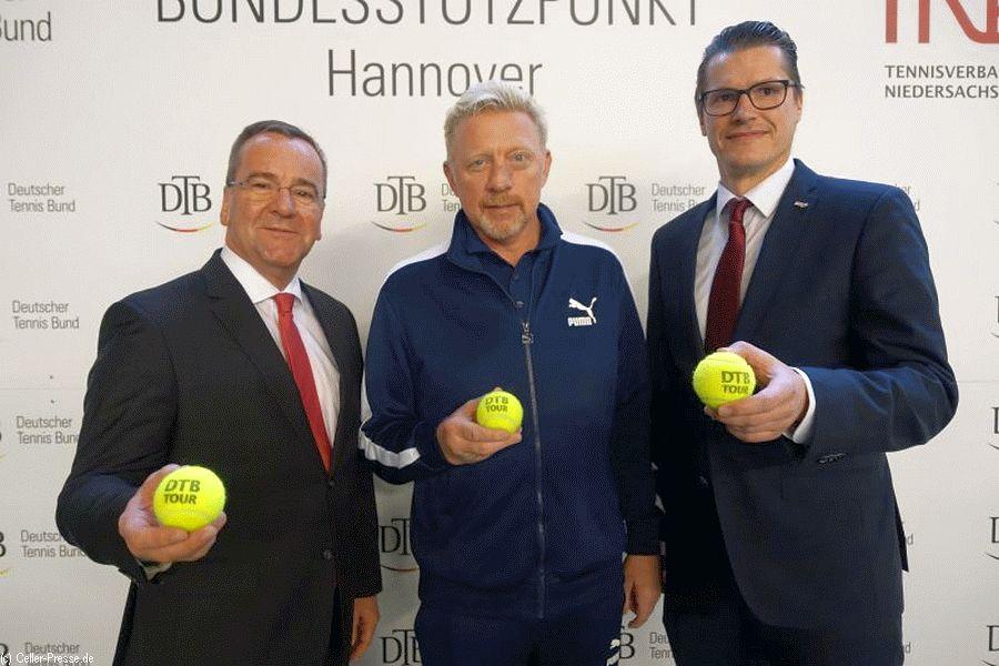 Minister Pistorius tauscht sich mit Boris Becker zur Zukunft des Tennissports aus