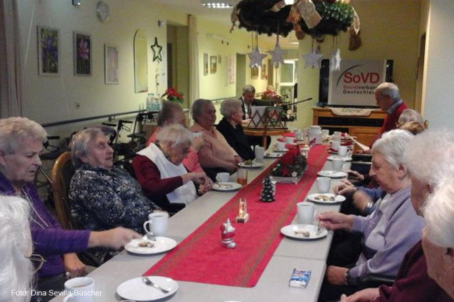 SoVD-Ortsverband Wietzenbruch beim traditionellen Adventssingen