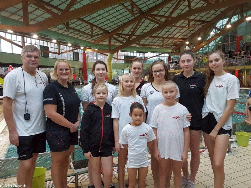 Staffelmeisterschaften des Landesschwimmverbandes Niedersachsen in Hildesheim am 1. und 2. 12.2018
