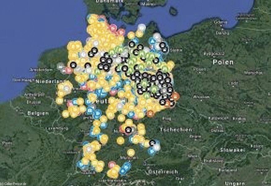 Wölfe In Brandenburg Karte.Wo Ist Der Wolf Karten Im Internet Zeigen Seine Spur Celler