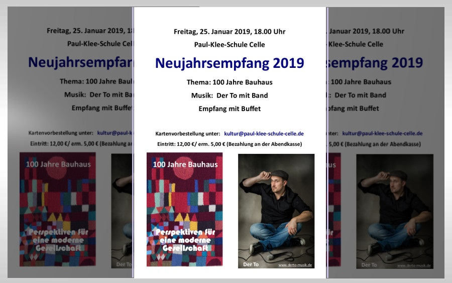 Neujahrsempfang 2019 der Paul-Klee-Schule Celle – Freitag, 25.01.2019, 18.00 Uhr