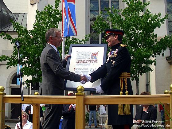 Privileg für die Royal Anglians: Auszeichnung Freedom of the City