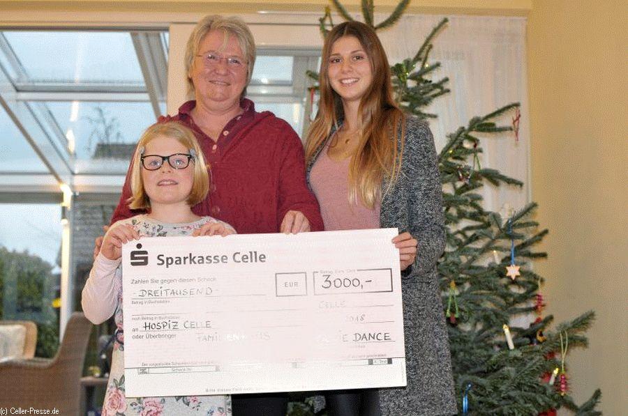 Tanzschüler der Jazzdance-Sparte des TuS Oldau-Ovelgönne spenden 3.000 EURO für das Hospiz-Haus