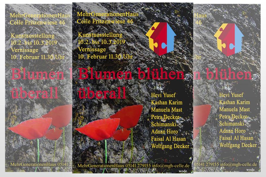 """""""Blumen blühen überall"""" – interkulturelle Kunstausstellung im MehrGenerationenHaus Celle"""