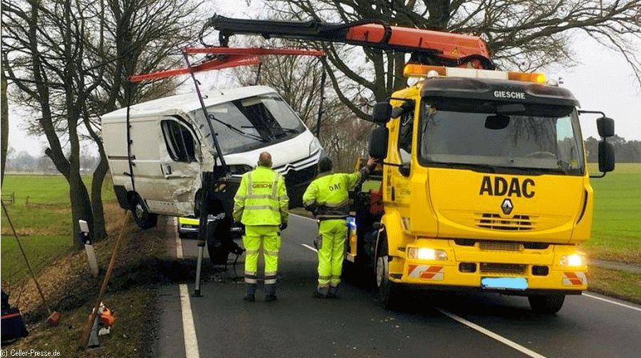 Fahrer nach Baumunfall unverletzt