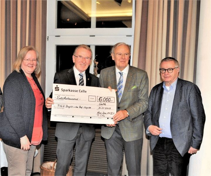 Lionsclubs Celle Stadt und Land gemeinsame Spende an PICU