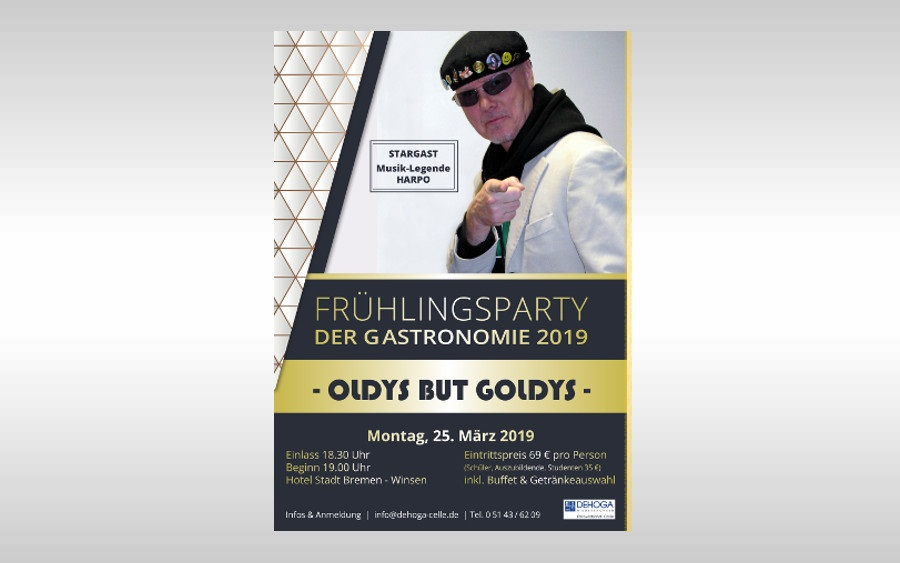OLDYS BUT GOLDYS – FRÜHLINGSPARTY der Gastronomie 2019