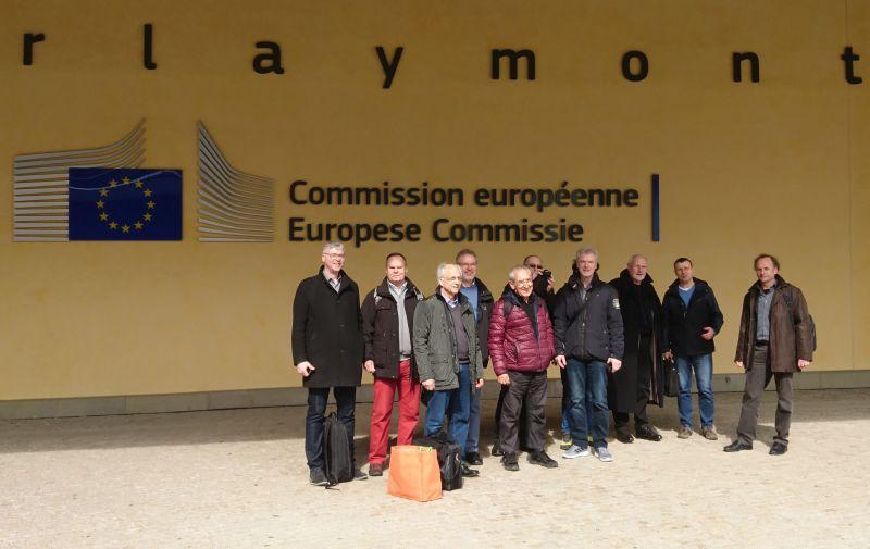 Bürgerinitiativen sprechen Umweltprobleme der Kaliindustrie und ihrer Rückstandshalden bei Besuch der EU-Kommission in Brüssel an