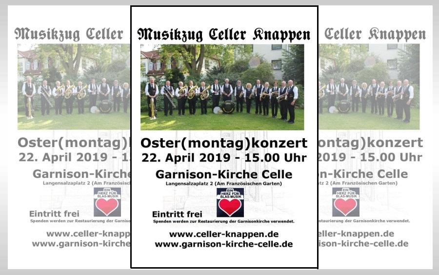 Blasmusik in der Garnison-Kirche – Musikzug Celler Knappen lädt zum Osterkonzert