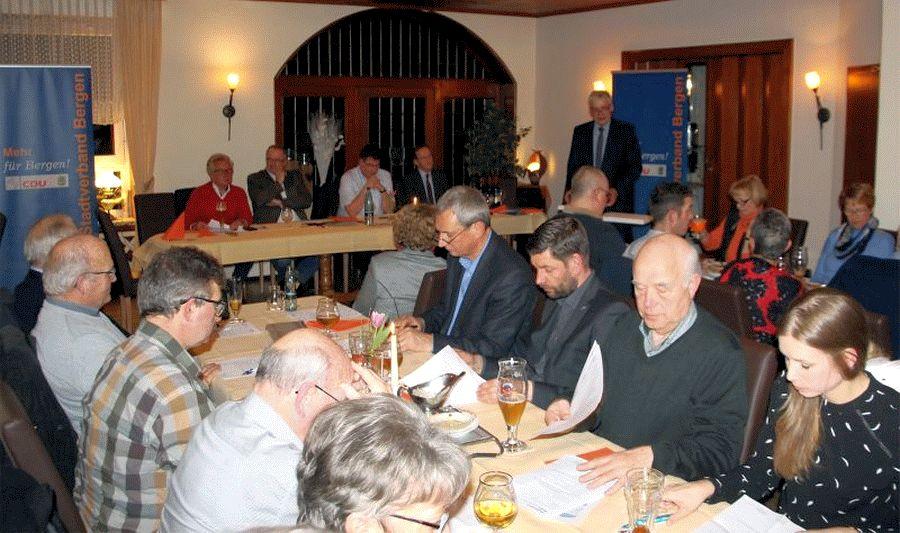 CDU-Bergen Mitgliederversammlung: Ausblick auf Bürgermeister- und Europawahl