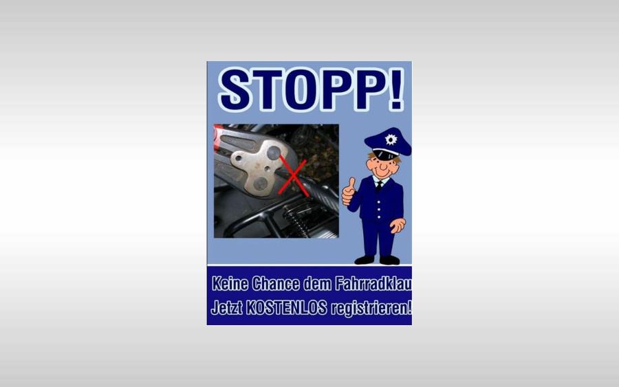 Fahrradregistrierung bei der Polizeiinspektion Celle