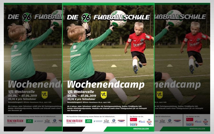 Freie Plätze beim Wochenendcamp der Hannover 96-Fußballschule in Westercelle