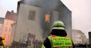 Gebäudebrand in der Bahnhofstraße