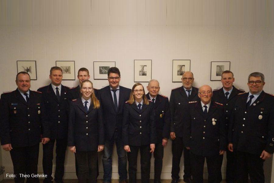 Jahreshauptversammlung der Freiwilligen Feuerwehr Diesten – Hans-Heinrich Thies für 50 Jahre Feuerwehrdienst geehrt