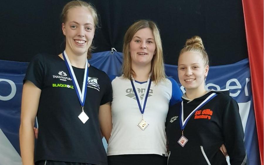Norddeutsche Meisterschaften der Mastersschwimmer – Merle Hinrichs gewinnt Silber über 100 m Freistil