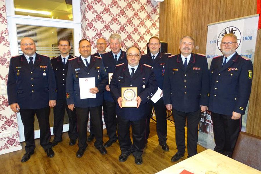 Verbandsversammlung 2019 des Kreisfeuerwehrverbandes Celle e. V. – Olaf Rebmann mit dem Deutschen Feuerwehr-Ehrenkreuz in Bronze geehrt