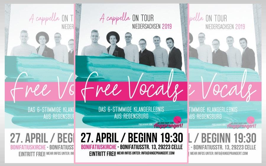 A-capella-Konzert der Free Vocals in der Bonifatiuskirche