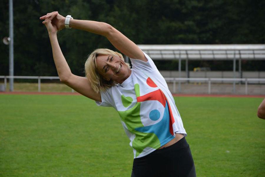 Olympiasiegerin Heike Drechsler beim SERENGETI-RUN powered by BARMER