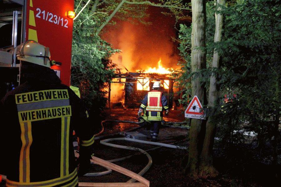 Brand zerstört Jagdhütte