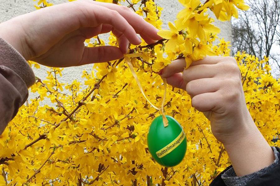 Die Suche nach den Stadtteil-Eiern hat begonnen