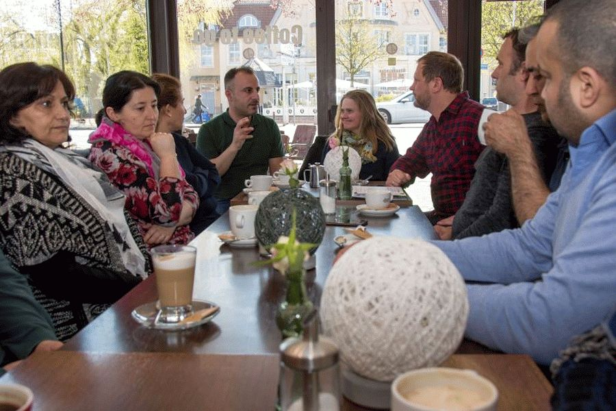 Gemeinsam über Kultur und Demokratie sprechen