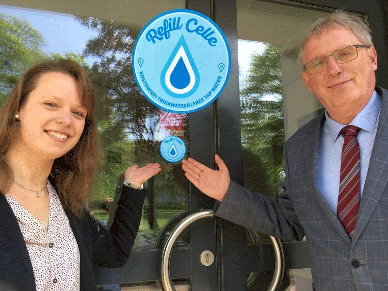 Landkreis Celle ist jetzt Refill-Station – Besucher und Mitarbeiter können Trinkflaschen kostenlos auffüllen