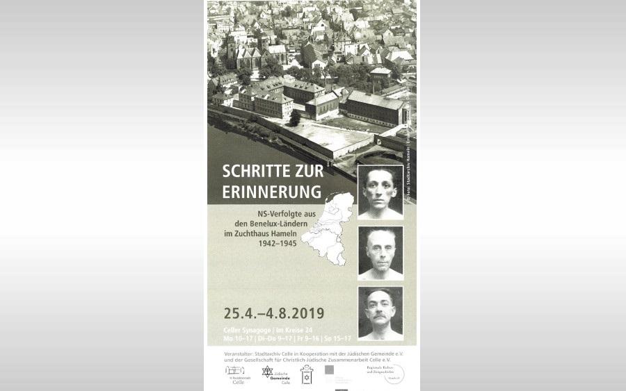 Schritte zur Erinnerung – NS-Verfolgte aus den Benelux-Ländern im Zuchthaus Hameln – Ausstellung in der Celler Synagoge