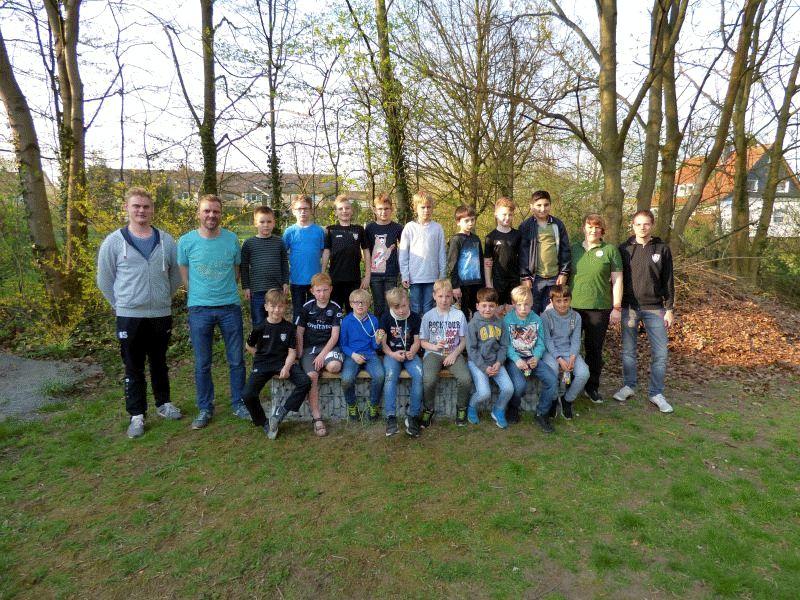 U 9 des ESV Fortuna Celle zu Besuch bei den Hehlentor Schützen