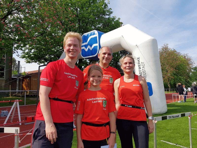 Adelheidsdorfer Lauf-AG beteiligt sich mit einem Team am 8. Neustädter Stadtlauf