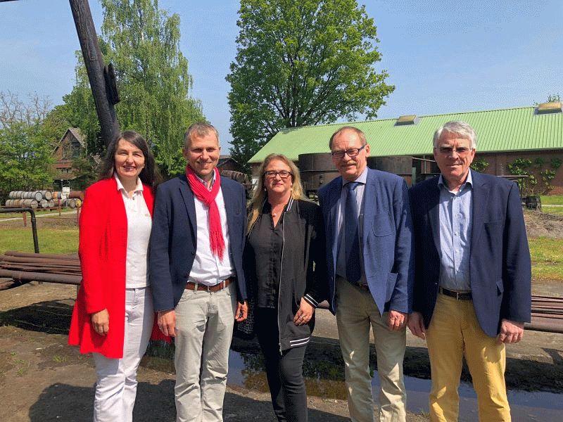 Besuch von Katrin Budde: Kirsten Lühmann und Ingolf Klaassen im Deutschen Erdölmuseum in Wietze 20. Mai 2019