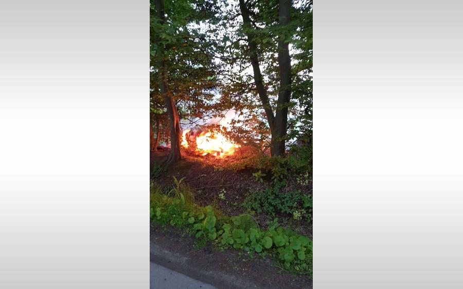 Brennender Komposthaufen führte zu Feuerwehreinsatz