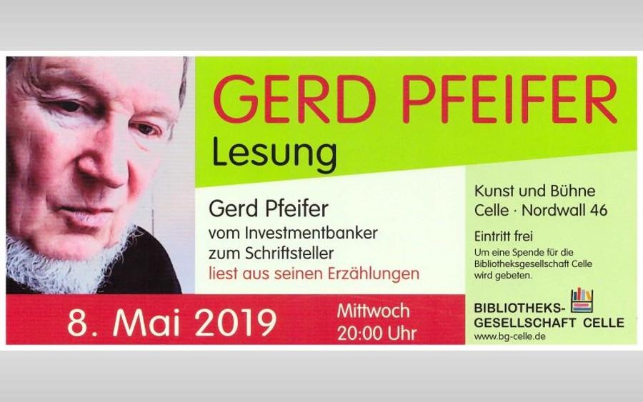Einladung zur Lesung von Gerd Pfeifer in Kunst und Bühne