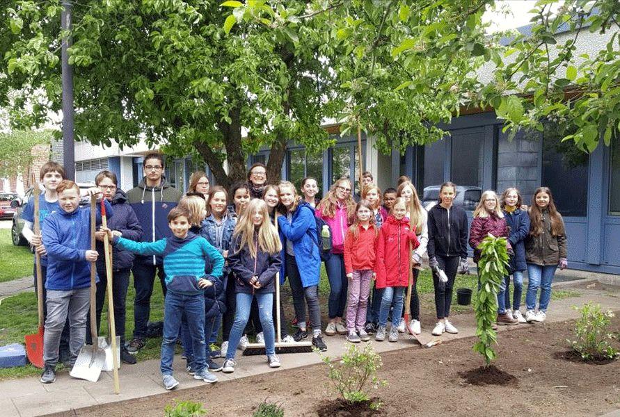 Ernestiner Erasmus Plus Schüler gärtnern gegen das Bienensterben