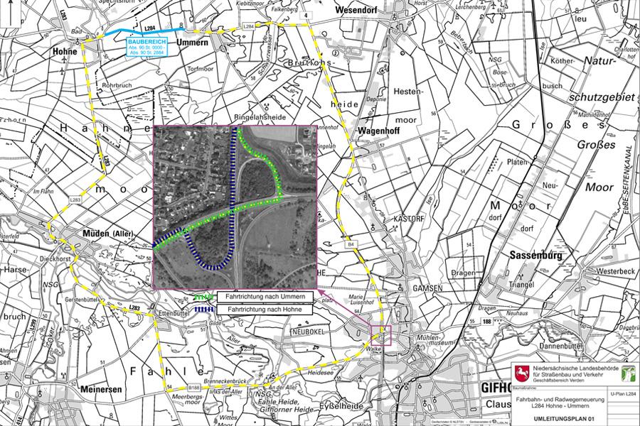 L 284: Fahrbahn- und Radwegerneuerung zwischen Hohne und Ummern