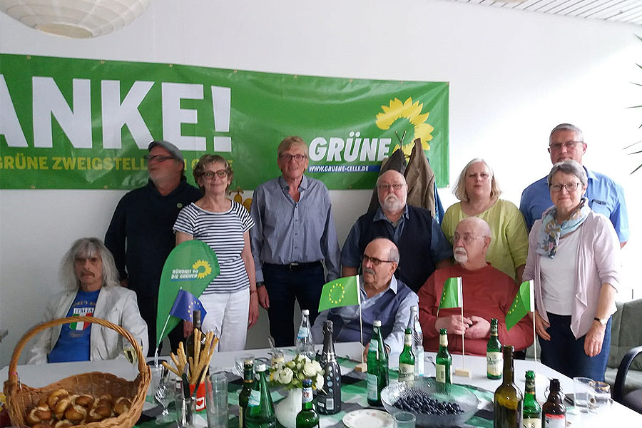 Große Freude bei Grüner Europa-Wahlparty in Celle