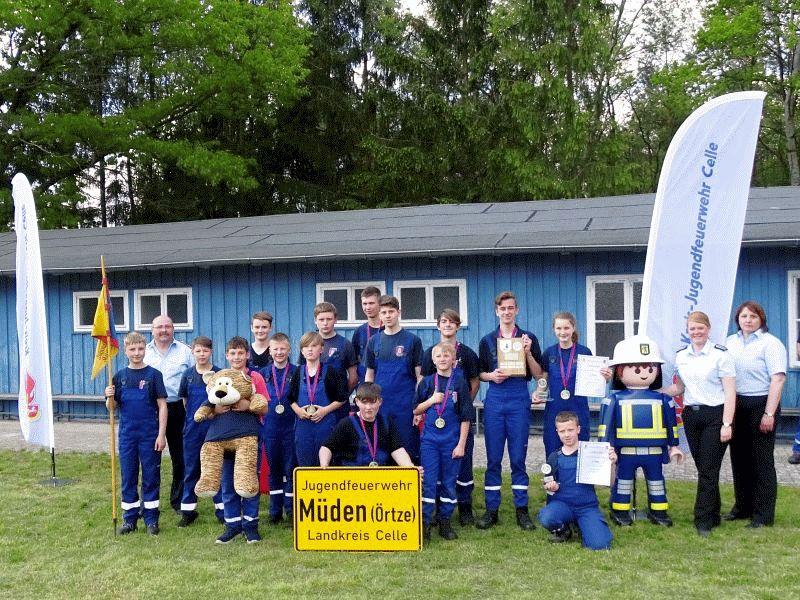 Jugendfeuerwehren messen sich bei den Leistungswettbewerben der Kreisjugendfeuerwehr Celle in Hermannsburg