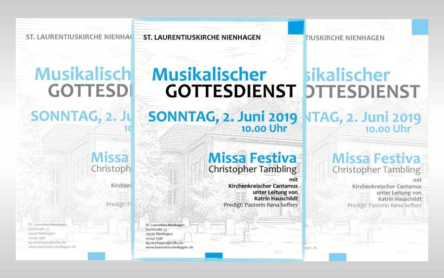 """Kirchenkreischor Cantamus führt """"Missa Festiva"""" am Sonntag, dem 2. Juni in Nienhagen auf"""