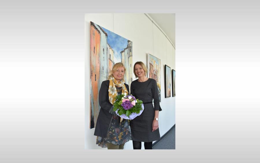 Kunstausstellung im Oberlandesgericht – Bilderreise durch Italien mit Werken von Ewelina Biermann-Firek