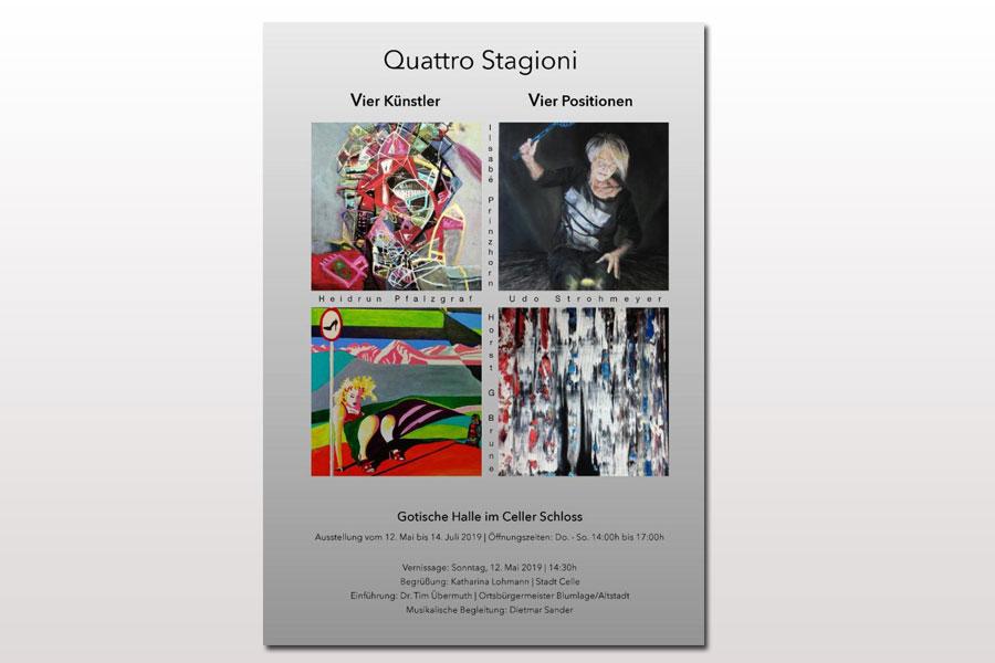 """Vernissage in der Gotischen Halle des Schlosses mit """"Quattro Stagioni"""""""