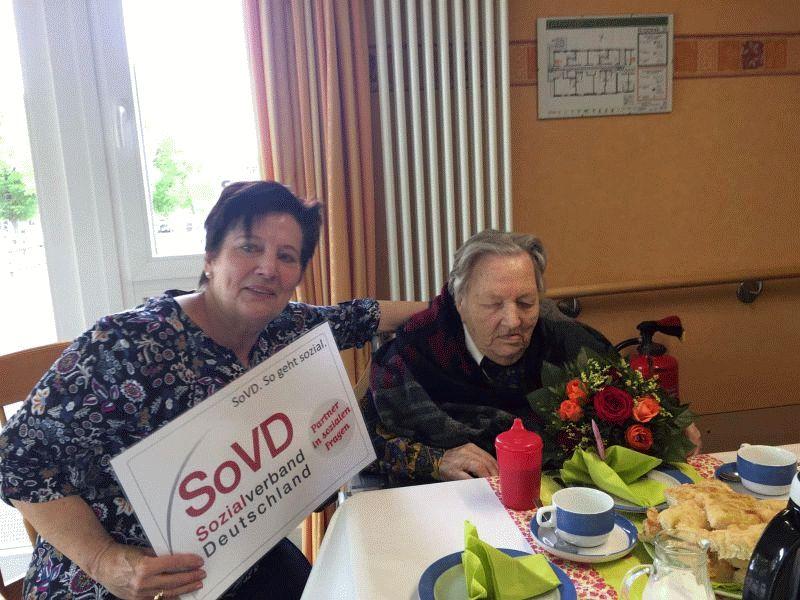 SoVD Mitglied Lotti Kalkstein feierte 103. Geburtstag