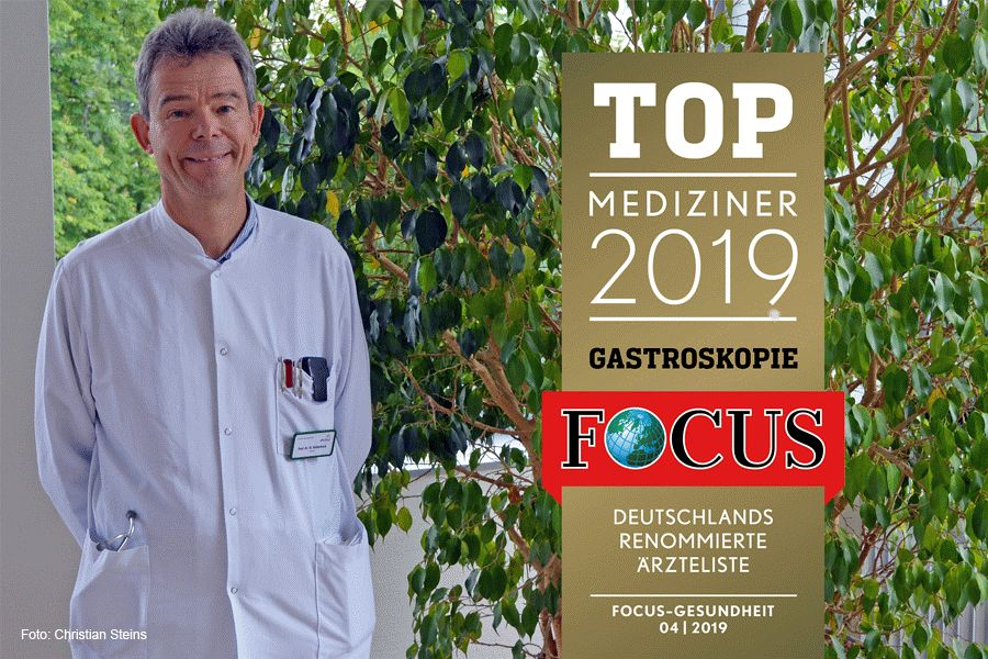Chefarzt der Gastroenterologie ist Top-Mediziner im Focus Gesundheit