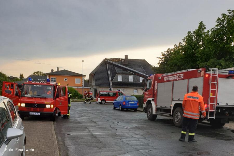 Dachstuhlbrand in Bergen *** aktualisiert