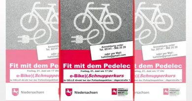Fit mit dem Pedelec – Kostenloser E-Bike-Schnupperkurs bei der Polizei Celle