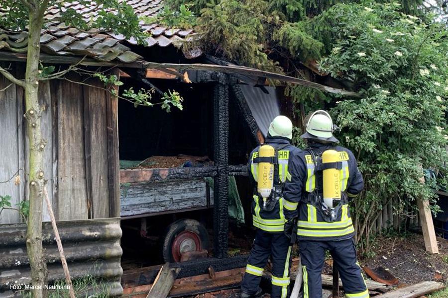 Scheunenbrand in Eicklingen – Anwohner verhindert Schlimmeres