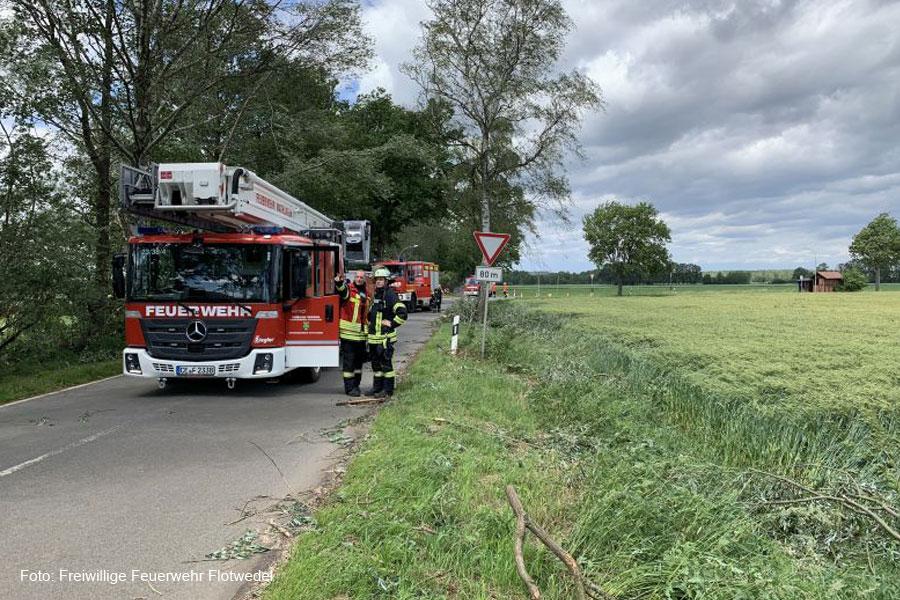 Sturmtief Ivan hält Feuerwehren in der Samtgemeinde Flotwedel auf Trab