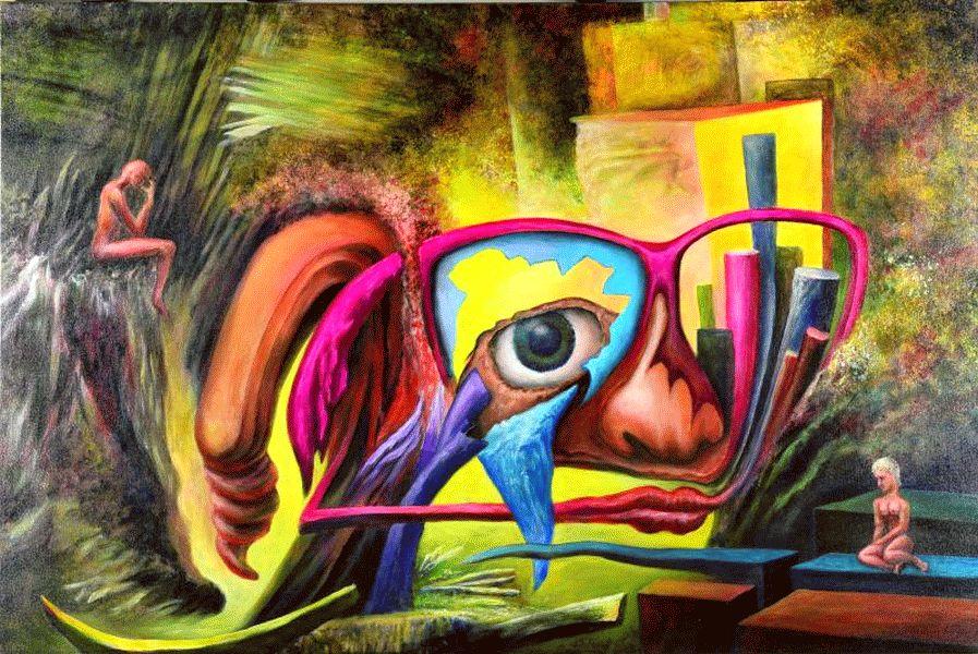 Ausstellung im atelier 22:  Paradoxe Welten
