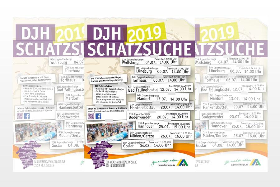 Deutsches Jugendherbergswerk (DJH) – Landesverband Hannover e.V. – veranstaltet große Schatzsuche an zehn Standorten in Niedersachsen