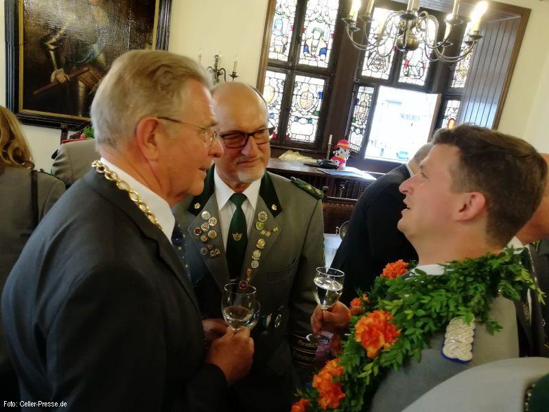 Impressionen vom Empfang der Majestäten 2018 im Alten Rathaus