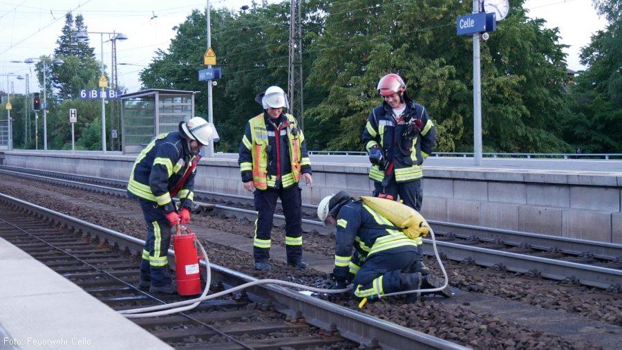 Schwelbrand im Celler Bahnhof